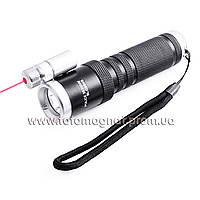 Фонарь Police Q9846-XPE, под руж., вынос. кнопка, лазер(подствольный фонарь)