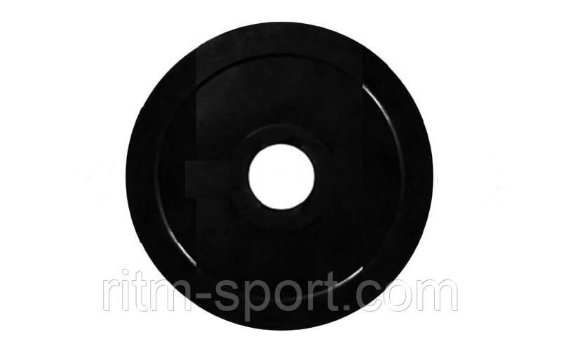 Блины (диск) обрезиненный вес 5 кг, d 52мм
