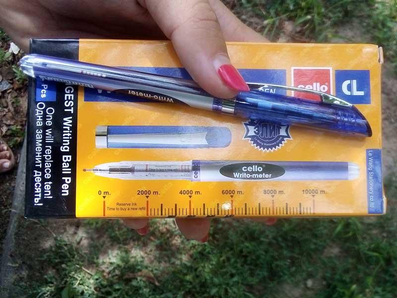 Ручка Writo-meter синяя (12шт) 10 километров