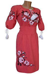 Жіноча вишита хрестиком плаття Льон р. 42 - 60
