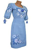 Платье вышиванка женское лен р.42 - 60