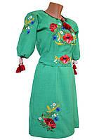 Вышиванка платье женское с поясом р.48 - 60