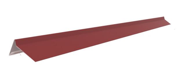 Торцевая планка (2 п/м) под битумную черепицу, красный