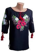 Рубашка женская вышитая Черная Вышиванка  р.42 - 60