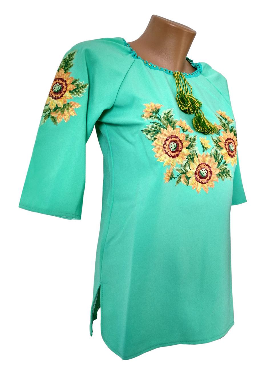 Рубашка женская вышитая Вышиванка Мята р.46 - 60
