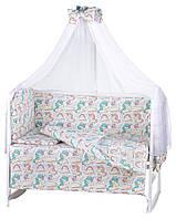 Детская постель Babyroom Comfort-08 unicorn белый (единороги)