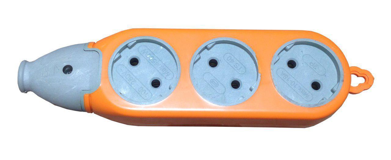 Колодка 2-х сторонняя 3гн+3гн б/з латунь оранж+сірий ( для строй работ) (120шт/ящ) R