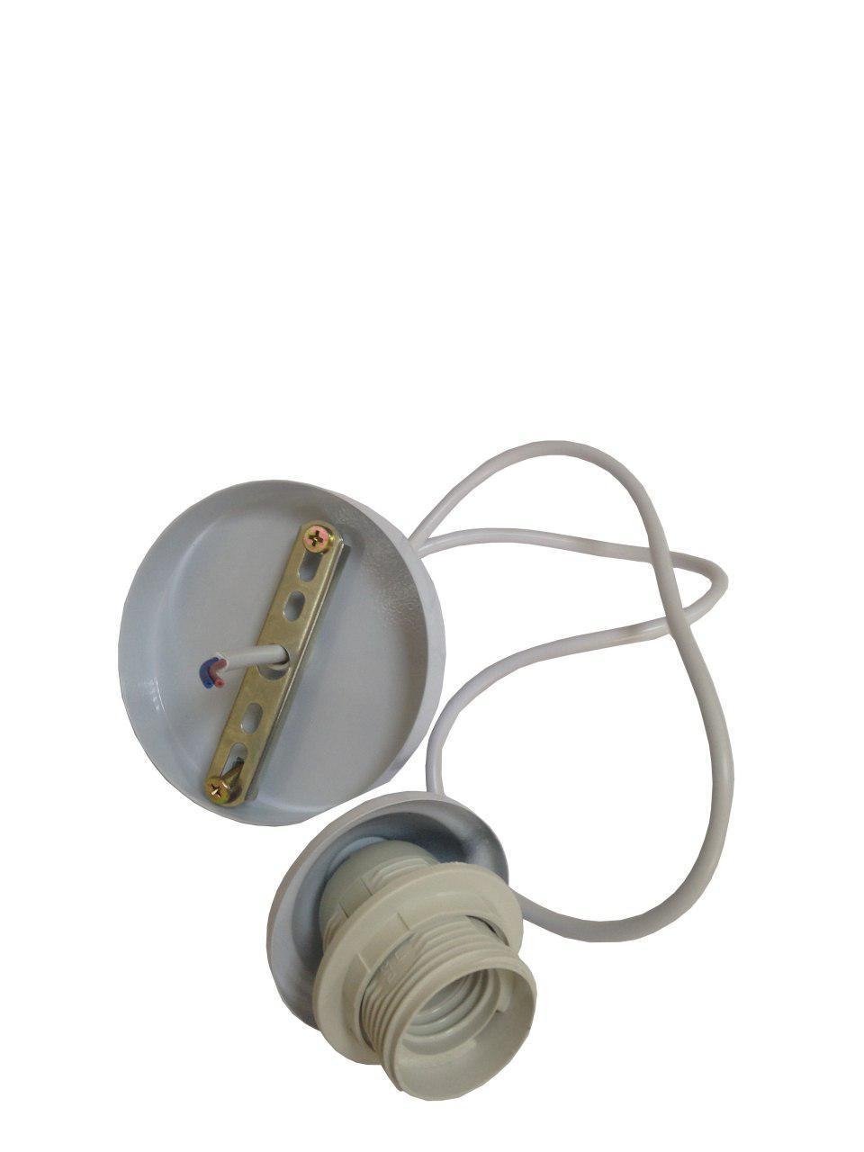 Патрон вінтажний стара латунь мідь люстровий Е27 з чашею з проводом 1М+монт.компл. (200шт/ящ) LUMANO