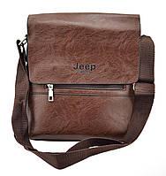 Мужская сумка Jeep Buluo. Цвет коричневый