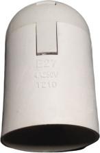 Патрон пластиковий Е27 білий в сборе підвісний Импорт R