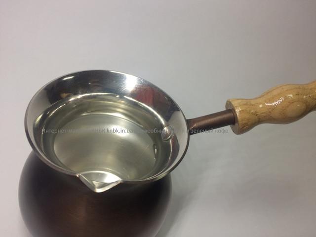 Турка (Джезва) мідна для приготування кави кава 300 мл Патина ZH