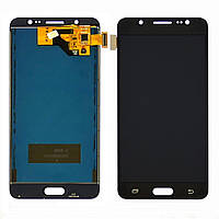 Дисплей для SAMSUNG J510 Galaxy J5 (2016) с чёрным тачскрином, с регулируемой подсветкой БЕЗ ЛОГ...(ID:21618)