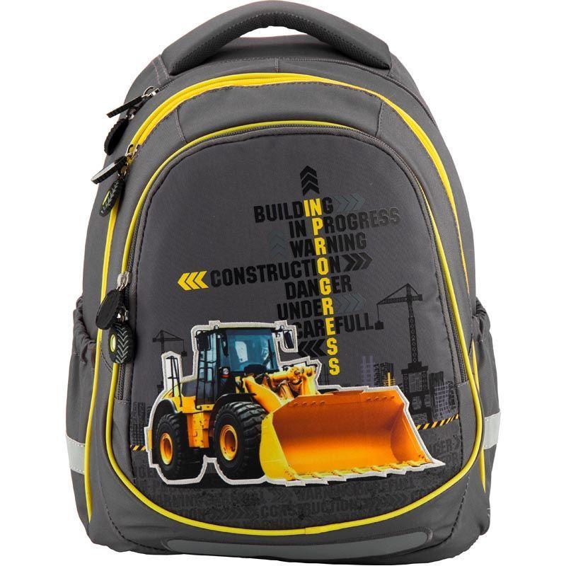 Рюкзак школьный Under construction K18-700M-1, M (130-145 см)