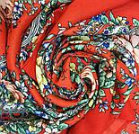 Квітковий роман 1747-5, павлопосадский вовняний шарф з шовковою бахромою, фото 8