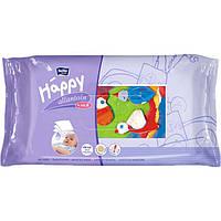 Детские влажные салфетки 64 шт Хеппи с аллантоином и витамином Е Bella Baby Happy
