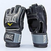 Перчатки для смешанных единоборств MMA PU EVERLAST  PRO STYLE GRAPPLING (р-р S-XL, черный), фото 1