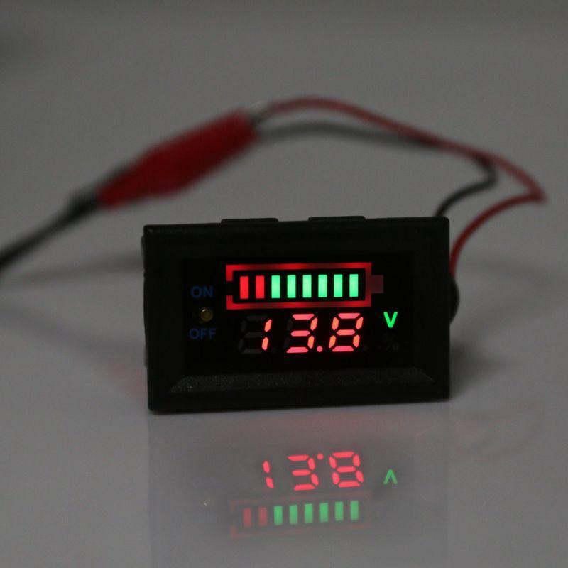 Индикатор уровня заряда 12в с кнопкой