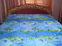 Шерстяное одеяло полуторное(ткань - поликатон)