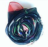Цветы любви 10011-18, павлопосадский шарф (креп-жоржет) шелковый с подрубкой, фото 4