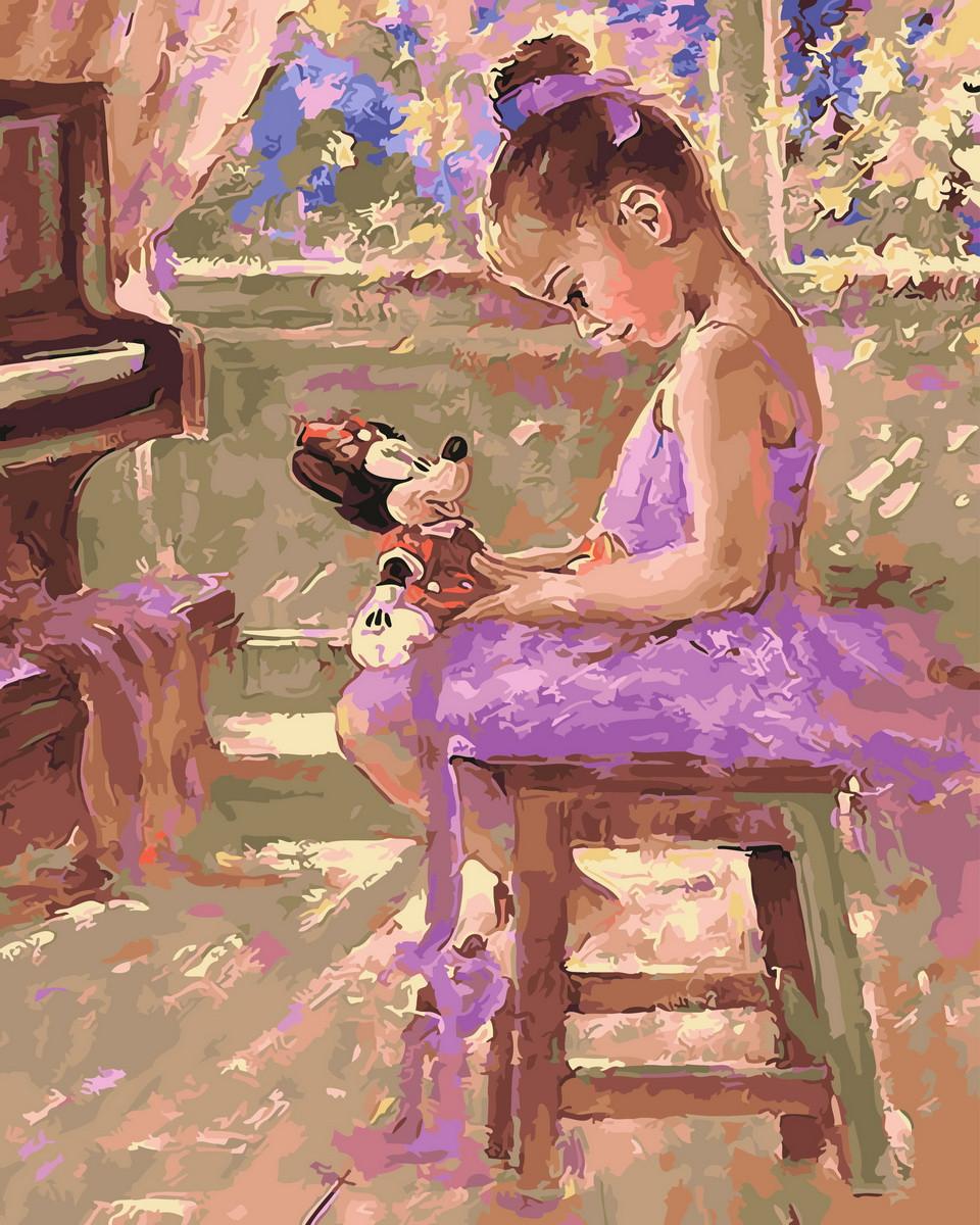 Картина по номерам  Прекрасная балерина, 40x50 см., Rainbow art