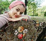 Тайна сердца 1437-17, павлопосадский платок шерстяной с шелковой бахромой, фото 10