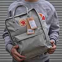Рюкзак светло-серый женский мужской на 16 литров от бренда Fjallraven Kanken Канкен
