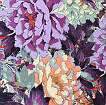 Платок хлопковый 10309-15, павлопосадский платок хлопковый (батистовый) с швом зиг-заг, фото 4