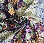 Платок хлопковый 10309-15, павлопосадский платок хлопковый (батистовый) с швом зиг-заг, фото 5