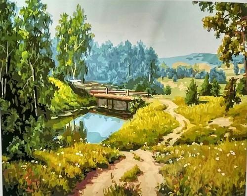 Картина по номерам  Мостик, 40x50 см., Rainbow art