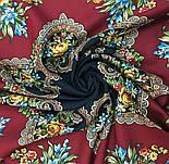 Майя 372-28, павлопосадский платок (шаль) из уплотненной шерсти с шелковой вязанной бахромой, фото 7