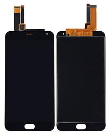 Дисплей (экран) для Meizu M2 + с сенсором (тачскрином) черный большая микросхема, 6x6 mm