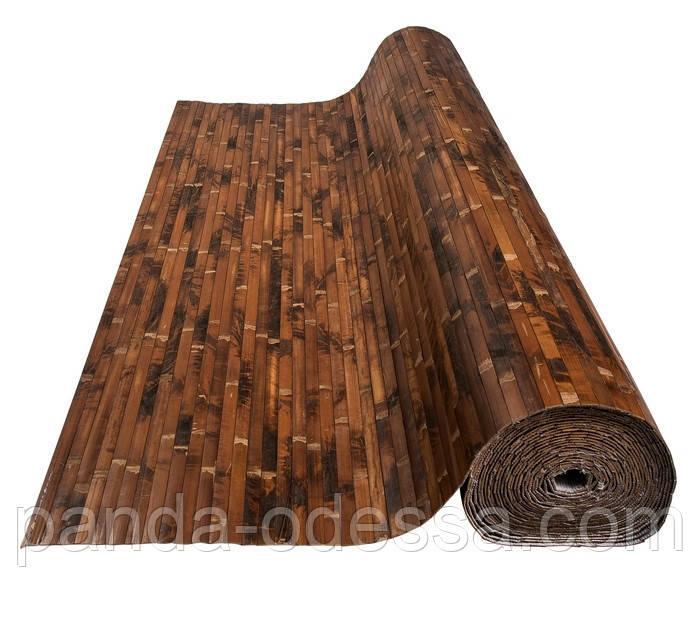 """В пределах отрезка 0,5 м.п / Бамбуковые обои """"Черепаха"""" шоколадная, п. 17 мм, высота рулона 2,5 м"""