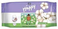 Детские влажные салфетки 64*4=256 шт Хеппи с натуральными протеинами шёлка Bella Baby Happy Silk & Cotton