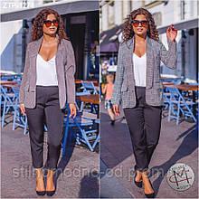 Костюм трійка жіночий піджак брюки та блузка в наборі   від Стильномодно