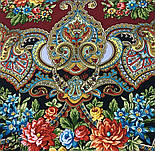 Майя 372-28, павлопосадский платок (шаль) из уплотненной шерсти с шелковой вязанной бахромой, фото 3