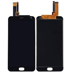Дисплей (экран) для Meizu M2 + с сенсором (тачскрином) черный Оригинал большая микросхема, 6x6 mm