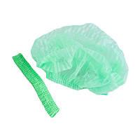 Шапочка медицинская на одной резинке Polix Pro&Med, упаковка 100 шт., цвет зеленый