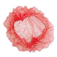 Шапочка медицинская на одной резинке Polix Pro&Med, упаковка 100 шт., цвет красный