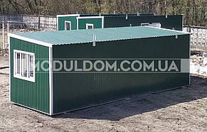 Вагончик жилой (9 х 3 м.), общежитие, офис, на основе цельно-сварного металлокаркаса., фото 2