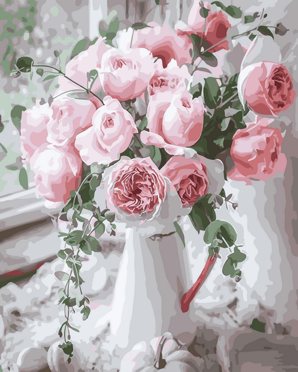 Картина по номерам  Нежность роз, 40x50 см., Rainbow art