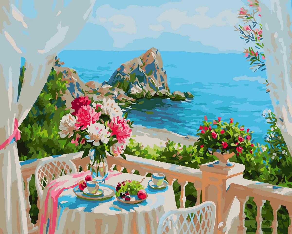 Картина по номерам  Живописный залив, 40x50 см., Rainbow art