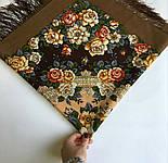 Город роз 1825-16, павлопосадский платок шерстяной  с шелковой бахромой, фото 7