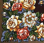 Город роз 1825-16, павлопосадский платок шерстяной  с шелковой бахромой, фото 4