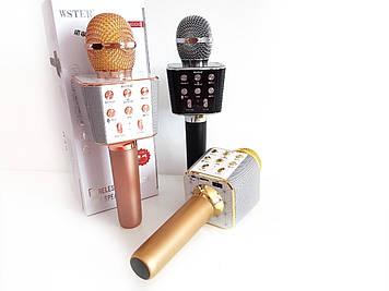 5 Темборов голоса. Микрофон-Караоке Bluetooth WSTER WS-1688