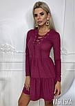 Женское платье из тонкого замша со шнуровкой (в расцветках), фото 8