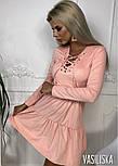 Женское платье из тонкого замша со шнуровкой (в расцветках), фото 9