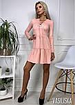 Женское платье из тонкого замша со шнуровкой (в расцветках), фото 7