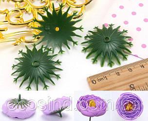 (10 ГРАММ ≈16 шт) Основа-зажим для цветочной серединки Ø40мм (зажим для тычинки ) Цвет - на фото