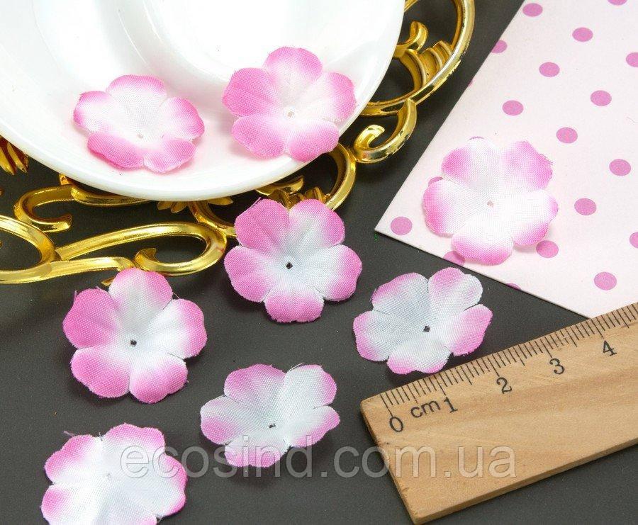 (10 ГРАММ 260 шт) Заготовка для цветка, пресс Ø24мм Цвет - Бело-розовый (сп7нг-2090)