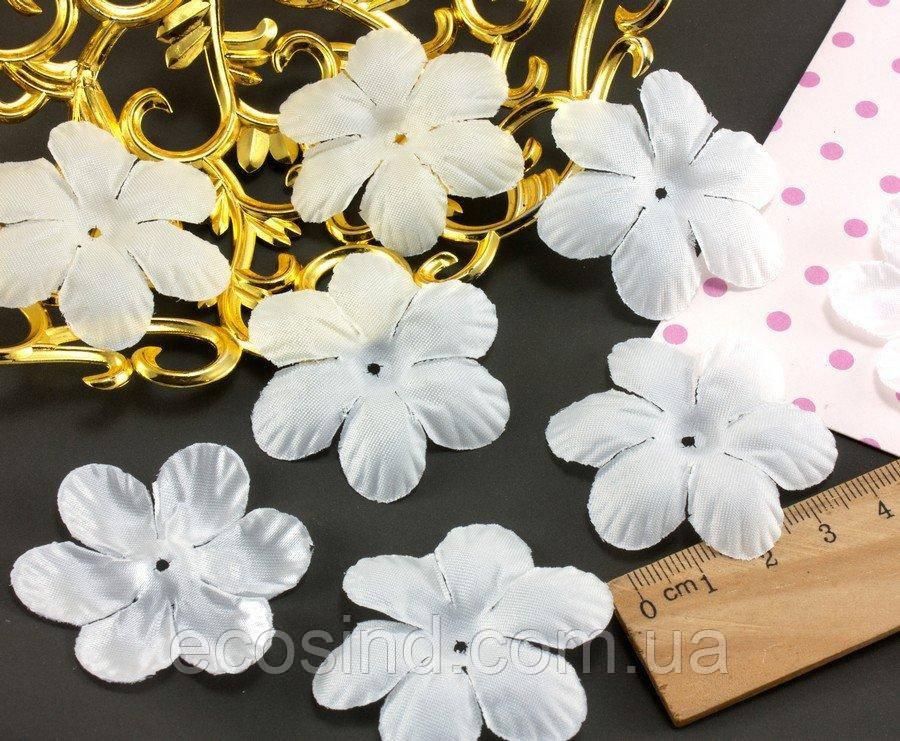 (10 ГРАММ 75 шт) Заготовка для цветка, пресс Ø48мм Цвет - Белый (сп7нг-1569)